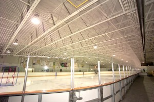 Sports netting in arena.