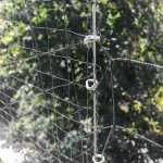 Molded and Knotted netting side by side.